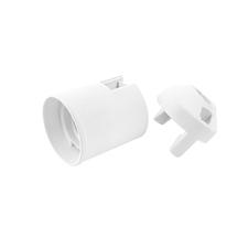 EL 1000268 Objímka plastová E27, typ: 80 (1351-13400) - bílá, hladká, s čepičkou