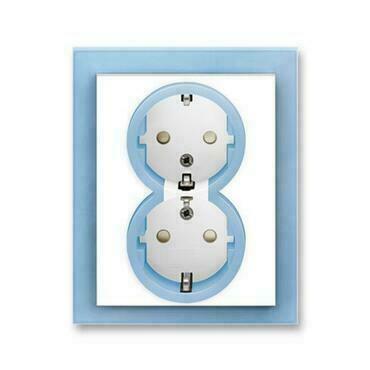 ABB 5512M-C03459 41 Jiné systémy zásuvek Zásuvka dvojnásobná s ochrannými kontakty (podle DIN), s cl
