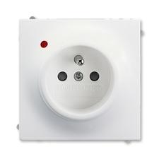 ABB 5599B-A02357774 Impuls Zásuvka jednonásobná s ochr. kolíkem, s ochranou před přepětím