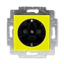 ABB 5520H-A03457 64 Jiné systémy zásuvek Zásuvka jednonásobná s ochrannými kontakty (podle DIN), s c