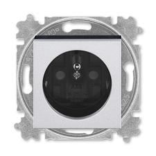 ABB 5519H-A02357 70 Zásuvka jednonásobná s ochranným kolíkem, s clonkami Levit