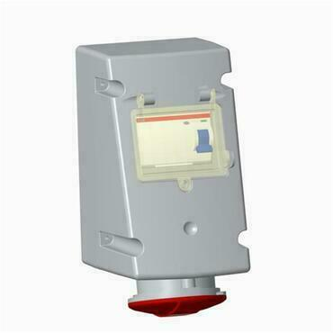ABB 2CMA168291R1000 Průmyslové vidlice a z. Zásuvka s proudovým chráničem, 4p., 32 A, IP44, 6 h