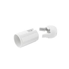 EL 1000262 Objímka plastová E14, typ: 60 (T180+105/ASFV) - bílá, s vnějším závitem, s čepičkou
