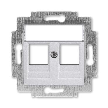 ABB 5014H-A01018 70 Kryt zásuvky komunikační přímé (2x), s kovovým upevňovacím třmenem Levit