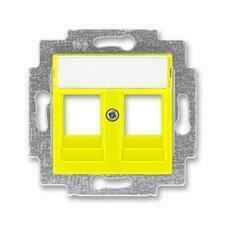 ABB 5014H-A01018 64 Levit Kryt zásuvky komunikační přímé (2x), s kovovým upevňovacím třmenem