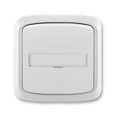 ABB 3558A-80920 S IPxx Ovládač zapínací kompl., s prosvětl. popis. polem, řaz. 1/0, 1/0So, IP44