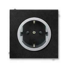 ABB 5518M-A03459 74 Jiné systémy zásuvek Zásuvka jednonásobná s ochrannými kontakty (podle DIN), s c