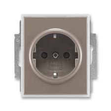 ABB 5518E-A03459 26 Jiné systémy zásuvek Zásuvka jednonásobná s ochr. kontakty (podle DIN), s clonka