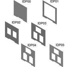 HLS HL IDP00 Upevňovací desky k příslušenství pro data zásuvky, PP