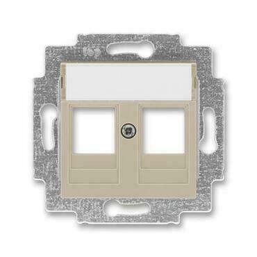 ABB 5014H-A01018 18 Levit Kryt zásuvky komunikační přímé (2x), s kovovým upevňovacím třmenem