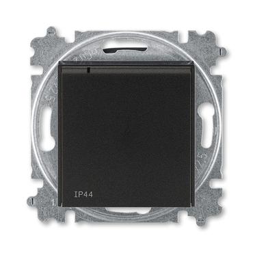 ABB 5519H-A02997 63 Zásuvka jednonásobná s ochr. kolíkem, s clonkami, s víčkem, IP44 IPxx