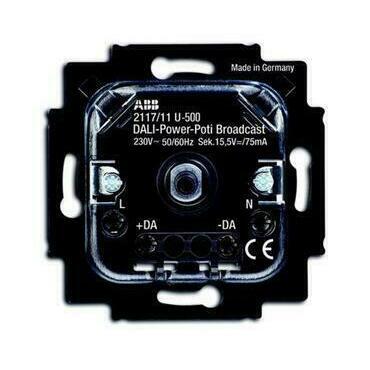 ABB 2CKA006599A2988 Přístroje Přístroj potenc. DALI výkon. pro tlač. spín. a otoč. ovl. (2117/11 U-5