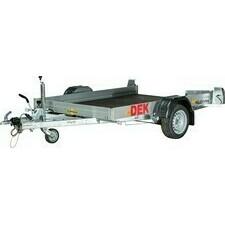 Přívěs brzděný 1,5×2,5 m – nosnost 1 500 kg, s hydraulickým podvozkem