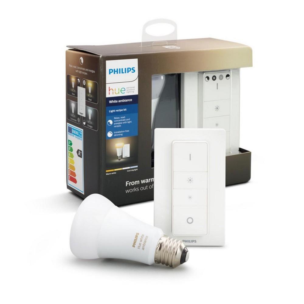 Philips Hue White ambiance sada LED žárovka E27 10,5 W 800 lm 2200-6500 K + dimmer switch