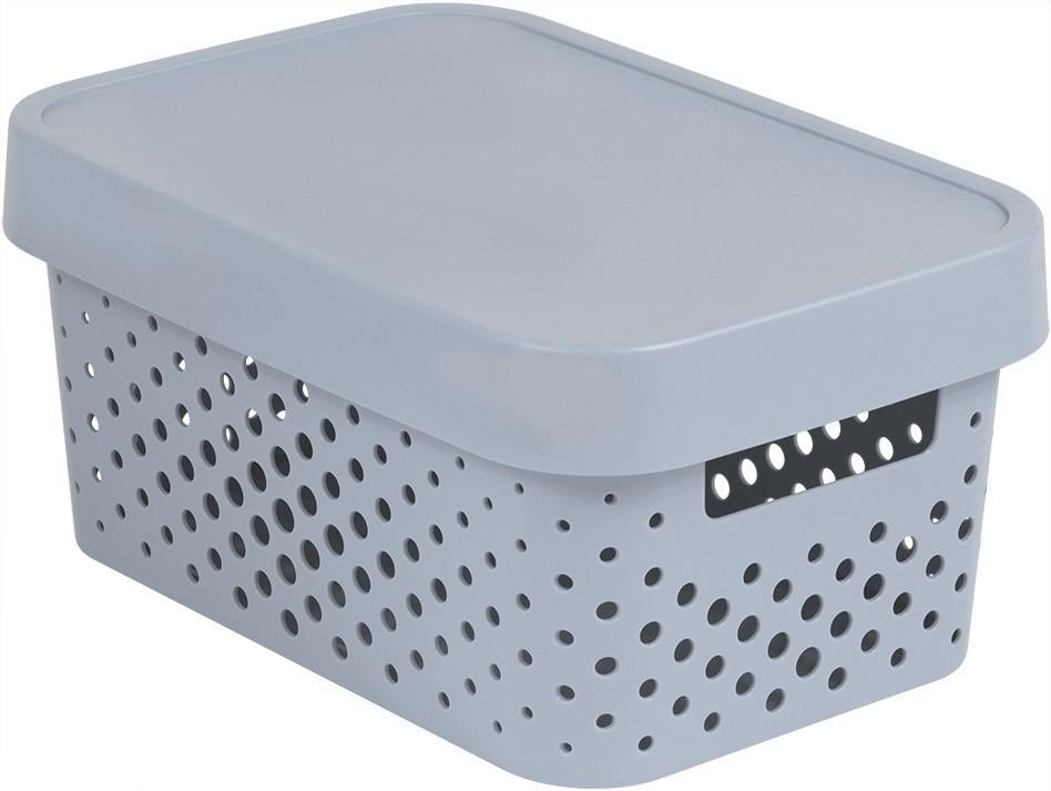 Box INFINITY DOTS 4,5 l šedý