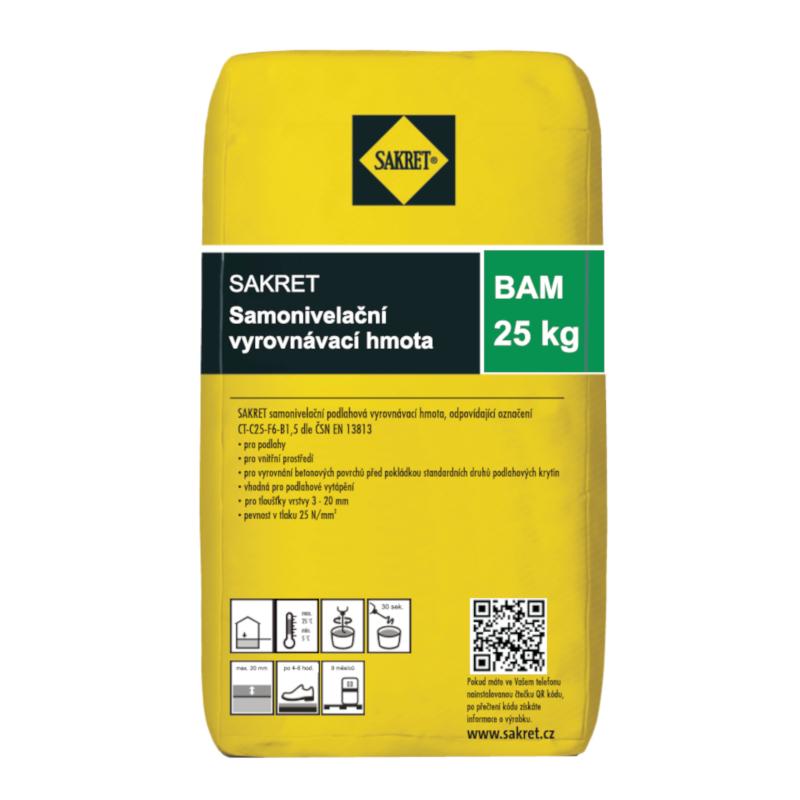 Hmota samonivelační vyrovnávací Sakret BAM 25 kg