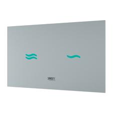 Elektronický dotykový splachovač WC Sanela SLW 30A, barva skla: bílá, podsvícení modré