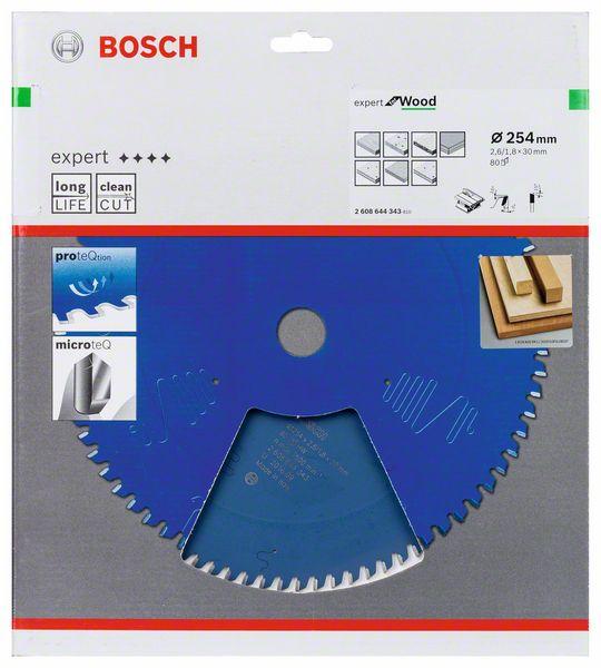 Kotouč pilový Bosch Expert for Wood 254×30×1,8 mm 80 z.