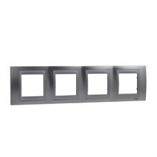 Rámeček čtyřnásobný, Unica Top, chrome/aluminium