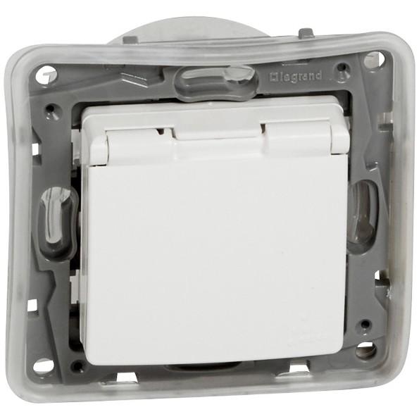 Zásuvka jednonásobná Niloé IP 44, bílá