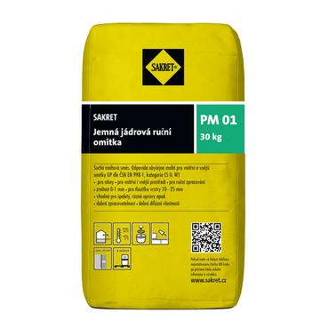 Jádrová omítka Sakret PM 01, 30 kg/bal