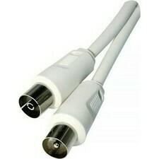 Anténní koaxiální kabel 1,25 m rovná vidlice