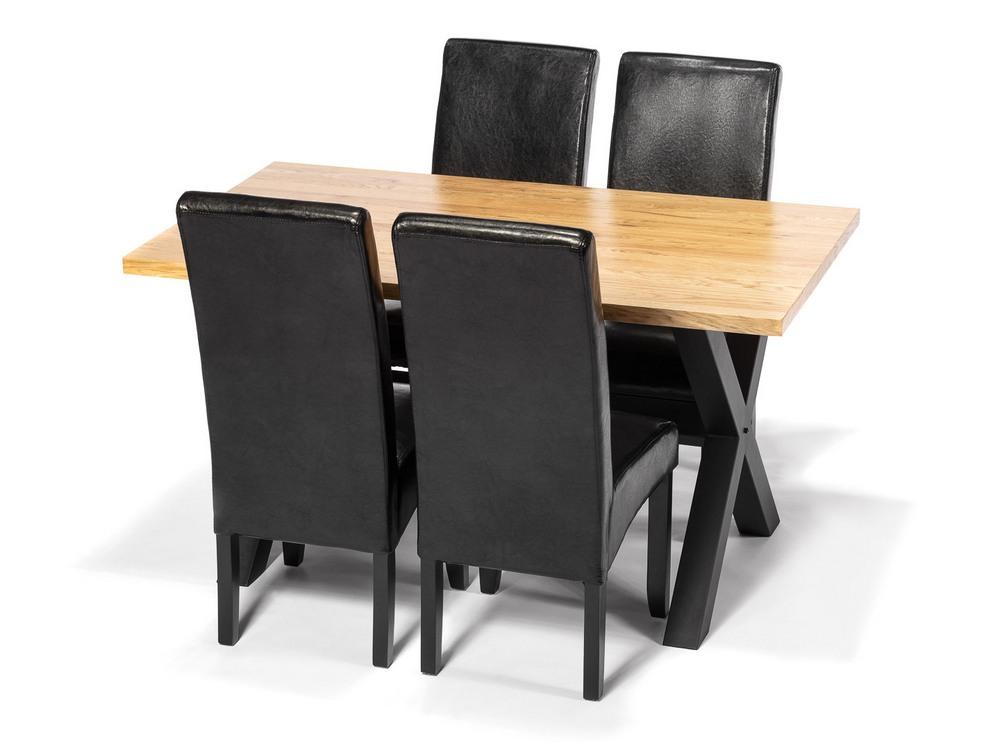 Jídelní sestava LOFT (4x židle, 1x stůl), cena za ks