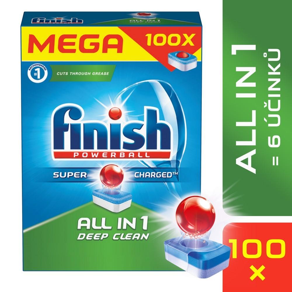 Tablety do myčky FINISH All-in-1 100 ks, cena za ks