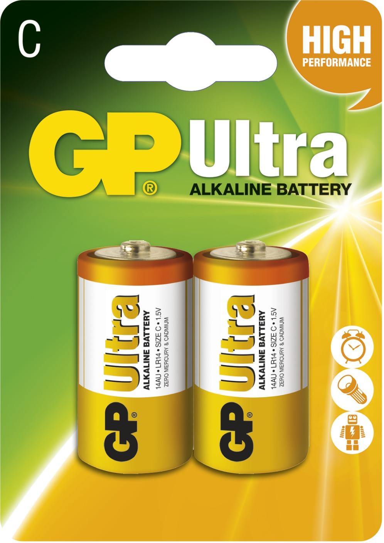 Baterie alkalická GP ULTRA LR14(C) (2 ks/bal)