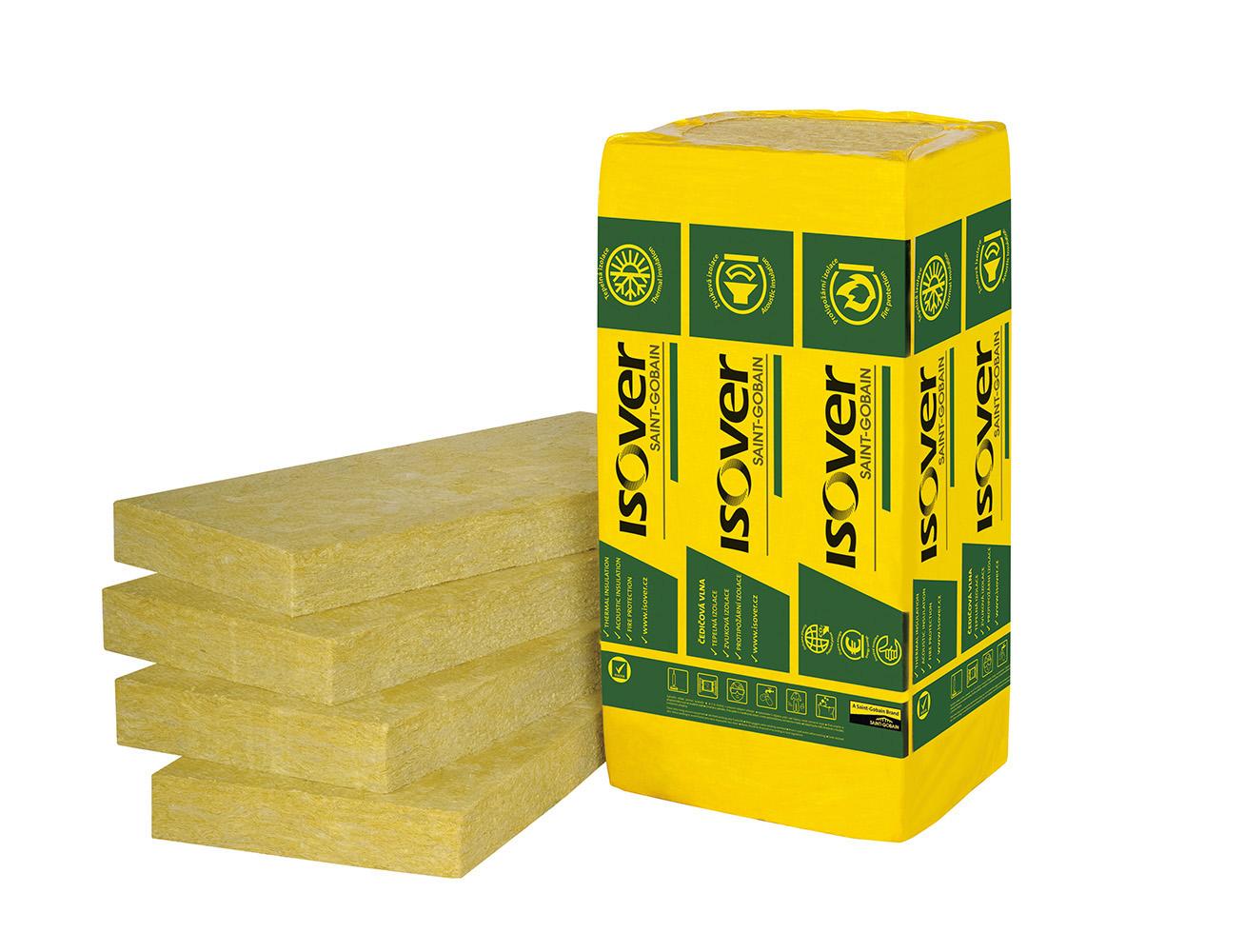 Minerální vata ISOVER FASSIL desky 100 mm (1200x600 mm), cena za m2