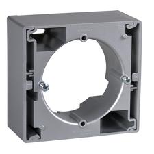 Krabice nástěnná Schneider Sedna, aluminium, jednonásobná