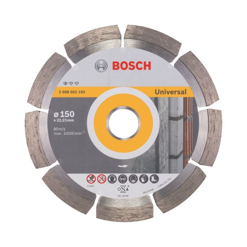 Diamantový řezný kotouč Bosch Professional for Universal 150×22,23 mm