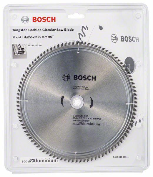 Kotouč pilový Bosch Eco for Aluminium 254×30×2,2 mm 96 z.