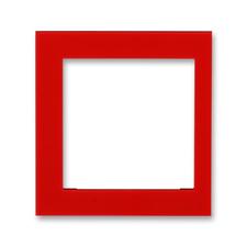 Kryt rámečku 55×55 krajní Levit červená
