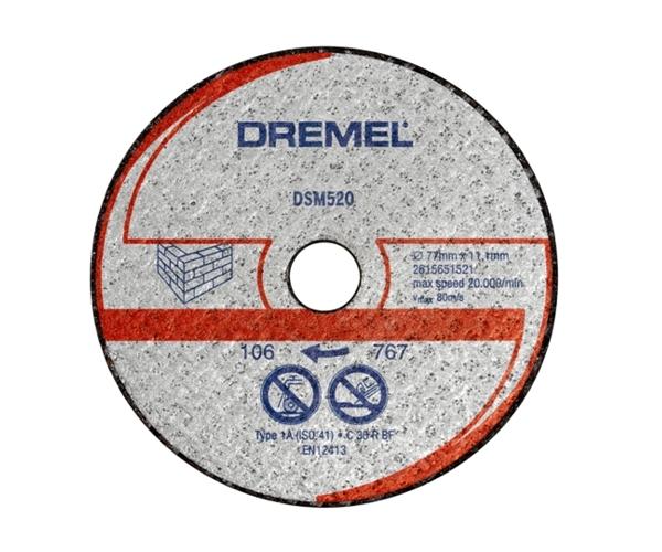 Řezací kotouč Dremel DSM520, 77 mm, zdivo