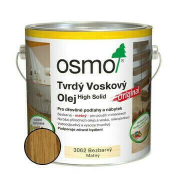 Olej tvrdý voskový Osmo Original 3062 bezbarvý 0,75 l
