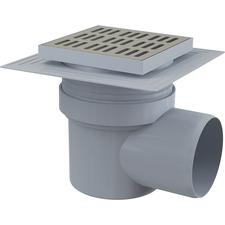 Podlahová vpust ALCAPLAST APV12 150x150 mm boční nerez