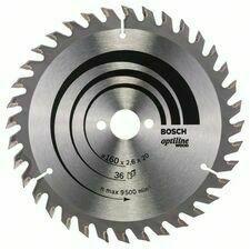 Kotouč pilový Bosch Optiline Wood 160×20×1,6 mm 36 z.