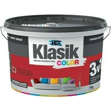 Malba interiérová HET Klasik Color vínový, 4 kg