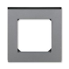 Rámeček jednonásobný Levit ocelová / kouřová černá