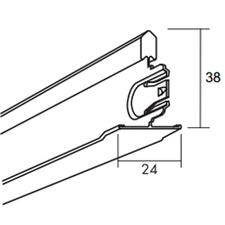 Profil vedlejší Ecophone Connect T24 24×38×600 mm