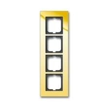 Rámeček Solo carat, vodorovná i svislá montáž, zlatá mosaz
