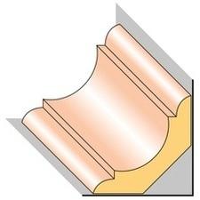 Lišta stropní S4 smrk nastavený 29×29×2000 mm, 25 ks/bal