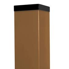 Sloupek poplastovaný DŘEVOplus pískový 60×60 mm 1 m řez