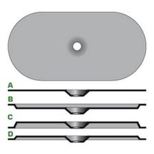 Plochá izolační ocelová podložka tl. 0,8 mm