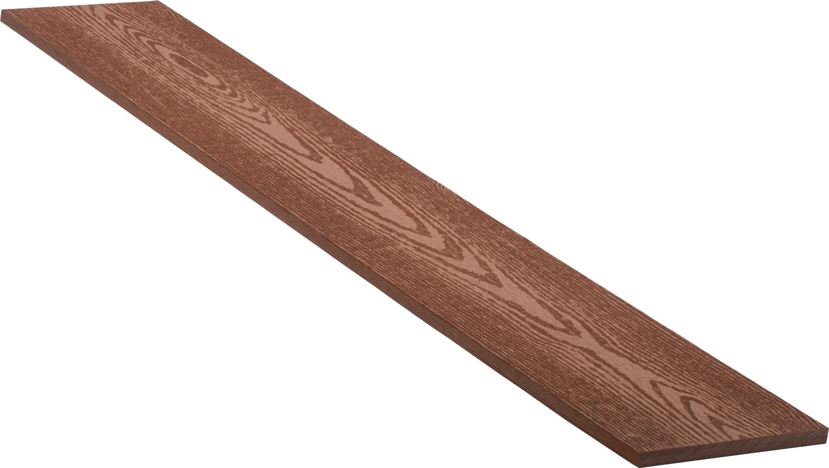 Lišta boční dřevoplastová WPC PERI odstín teak 150×12×2900 mm