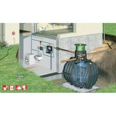 Sestava nádrže na dešťovou vodu Graf Carat Professionell, 4 800 l