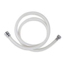 Hadice sprchová plastová Novaservis PVC/155,1, délka 150 cm, bílá/chrom