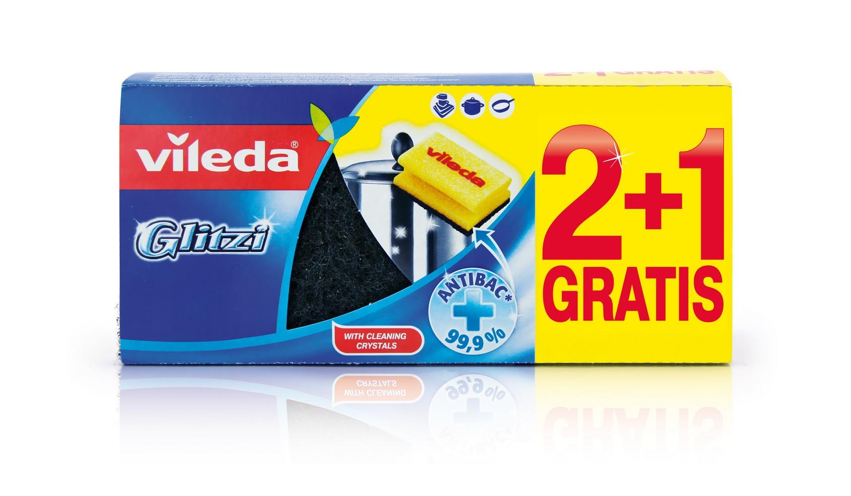 Houbička VILEDA Glitzi 2+1 ks, cena za ks