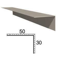 Rohová lišta z poplastovaného plechu Viplanyl 30x50 mm, r. š. 80 mm